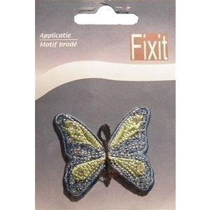 Applicatie vlinder blauw 0021365