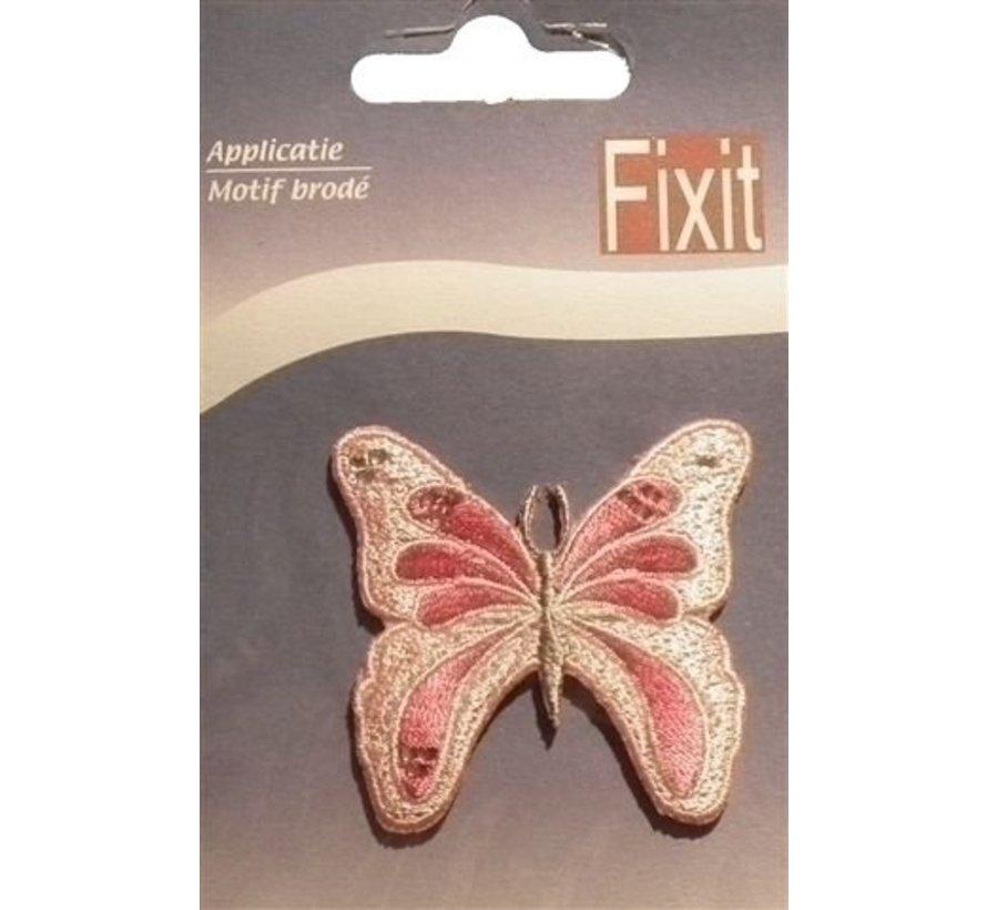 Applicatie vlinder roze 0021366