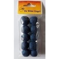 Viltkralen grijsblauw 18 mm 10 stuks