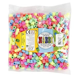Nabbi Nabbi Jumbo strijkkralen Pastelkleuren 1000 stuks