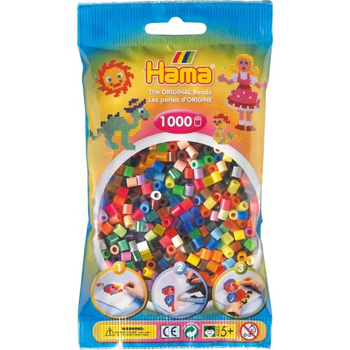 Hama Hama Strijkkralen 0068 Totale mix 1000 st.