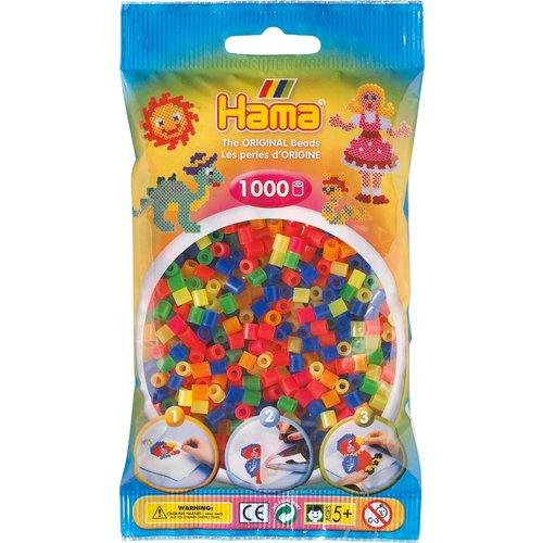 Hama Hama Strijkkralen 0051 neon doorzichtig gemengd 1000 st.