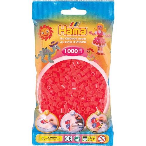 Hama Hama Strijkkralen 0035 rood neon 1000 st.