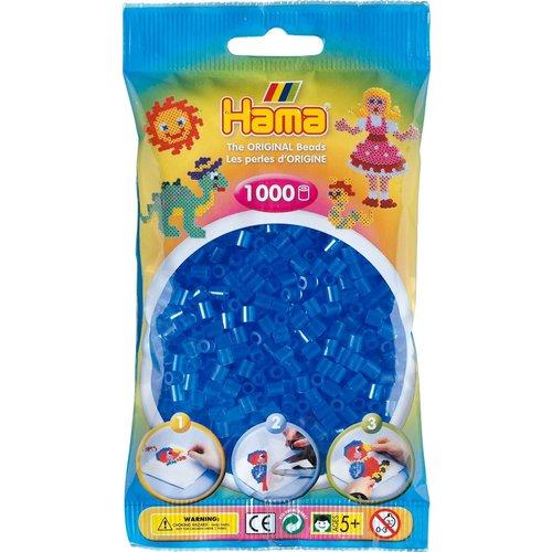 Hama Hama Strijkkralen 0015 blauw doorzichtig 1000 st.