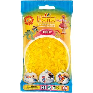 Hama Hama Strijkkralen 0014 geel doorzichtig 1000 st.