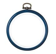 Vervaco Kunststof borduurlijst rond 7,5 cm blauw 0009441