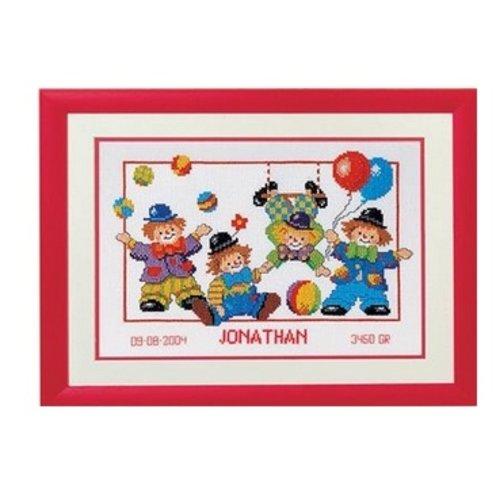 Vervaco Borduurpakket Clowns 70674