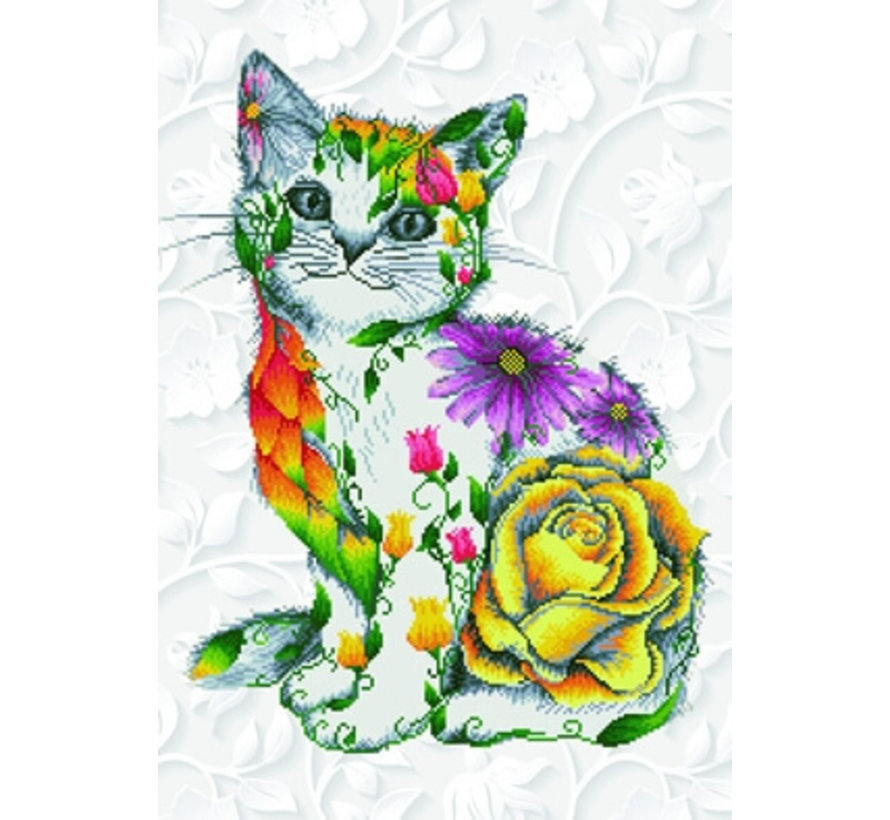 Diamond Dotz Pakket Flower Puss DD13.021