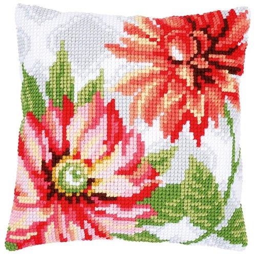 Vervaco Vervaco Kruissteekkussen Roze bloemen 0170570