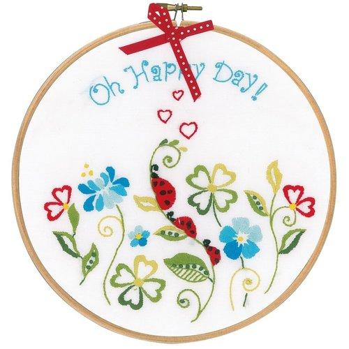 Borduurpakket met borduurring Oh happy day 0155045
