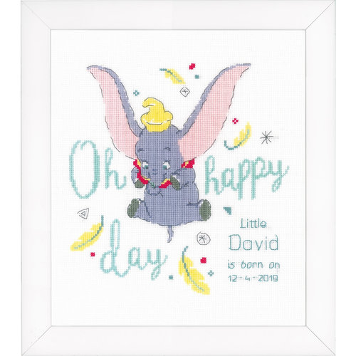 Vervaco Telpakket Geboorte Disney Dumbo Oh happy day 0176205
