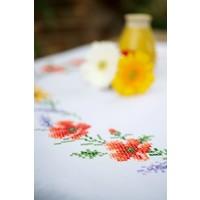 Tafelkleed borduurpakket Bloemen en lavendel 0158551