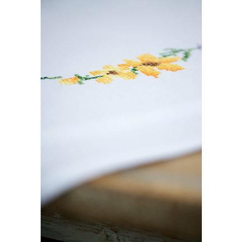 Vervaco Tafelkleed borduurpakket Bloemen en lavendel 0158551