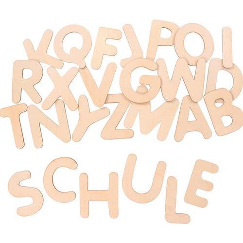 Houten letters groot 10 cm