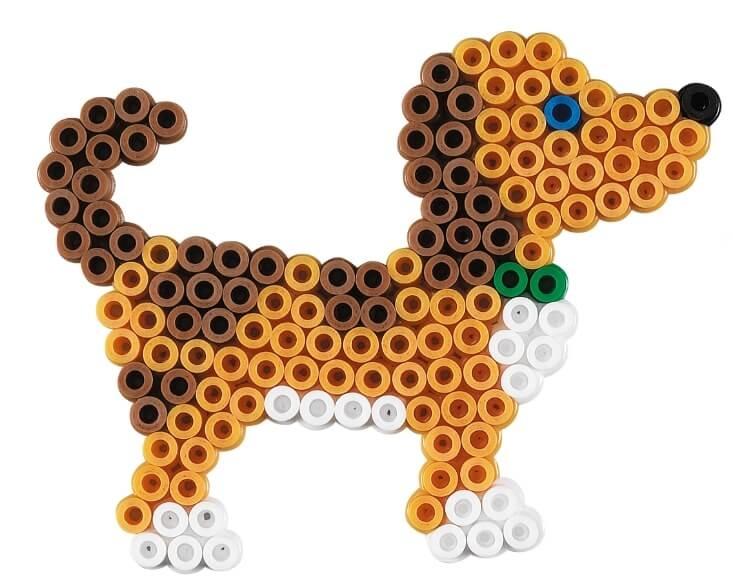 Strijkkralen patroon hondje