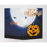 Diamond Painting Kaart Happy Halloween WC0344