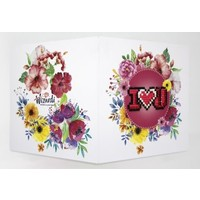 Diamond Painting Kaart I Love You WC0157