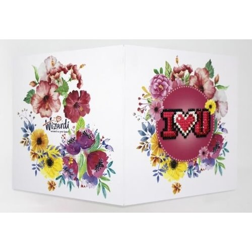 Wizardi Diamond Painting Kaart I Love You WC0157