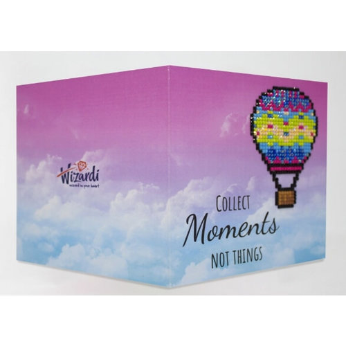 Wizardi Diamond Painting Kaart Collect Moments not Things WC0251