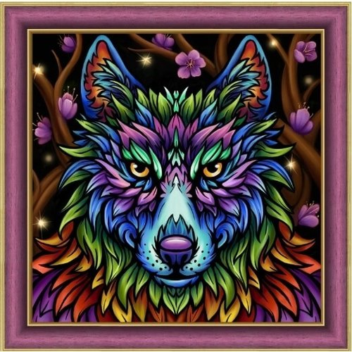 Artibalta Diamond Painting Rainbow Wolf AZ-1754