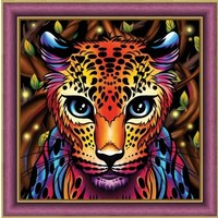 Diamond Painting Pakket Rainbow Leopard AZ-1752