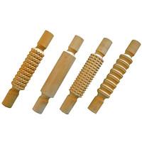 4 houten klei rollen, stempel rollen 220010
