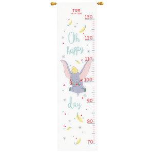 Vervaco Borduurpakket Groeimeter Disney Dombo Oh happy day 0178436