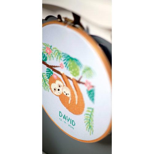 Vervaco Vervaco borduurpakket geboortetegel Lieve Luiaard 0178413
