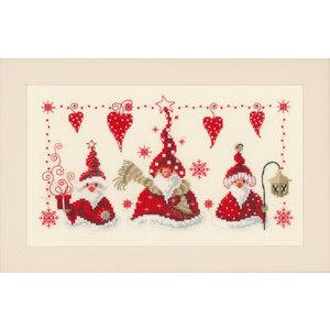 Vervaco Vervaco borduurpakket Vrolijke kerstmannen 0148065
