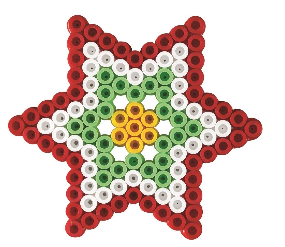 Strijkkralen kerst sterren maken
