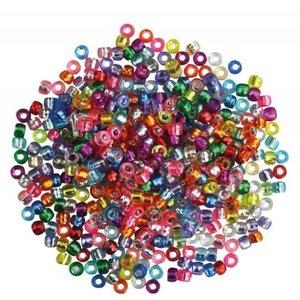Playbox Plastic Kongo rijgkralen zilver 300 stuks 2471365