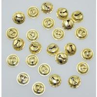 Gouden bellen 15 mm 25 stuks