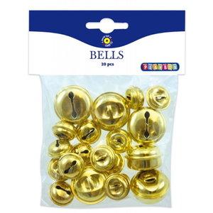 Playbox Gouden bellen 20 stuks 20 en 30 mm 24700096