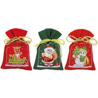 Vervaco borduurpakket kruidenzakjes kerstfiguren 0172635