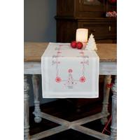 Vervaco borduurpakket tafelloper kerstbomen 0167023