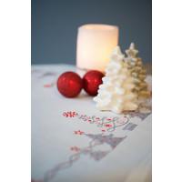 Vervaco borduurpakket tafelkleed kerstbomen 0166603