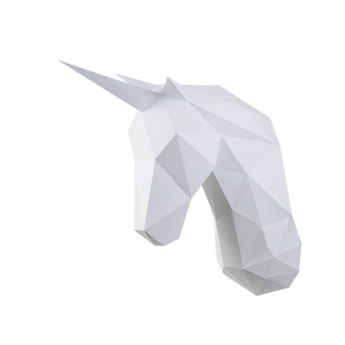 Wizardi Papercraft 3D pakket Unicorn Wit