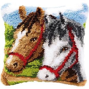 Vervaco Vervaco Smyrna Knoopkussen 2 paarden 0014157
