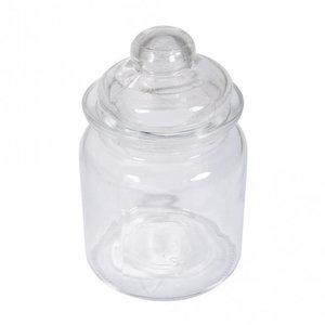 Rayher Glazen pot met glasdeksel 13 x 8 cm