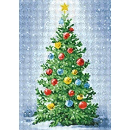 Wizardi Diamond Painting pakket Kerstboom WD2439