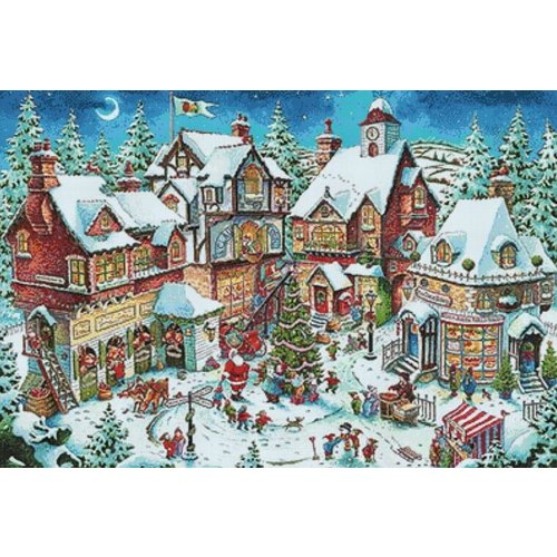Wizardi Diamond Painting Christmas Bustle WD2429