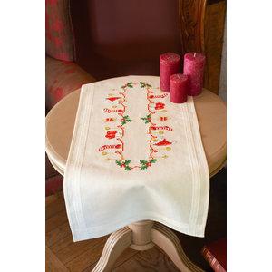 Vervaco Vervaco tafelloper Kerstmotiefjes 0158094
