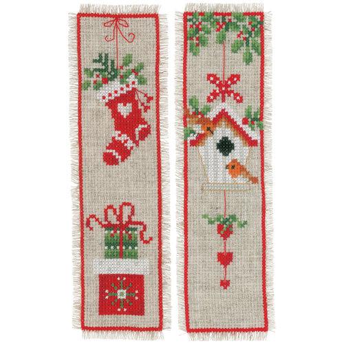 Vervaco Vervaco bladwijzers kerstmotiefjes 2 stuks 0178766