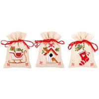Vervaco kruidenzakjes Kerstmotiefjes 3 stuks 0172213