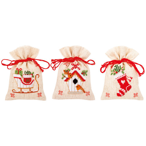 Vervaco Vervaco kruidenzakjes Kerstmotiefjes 3 stuks 0172213