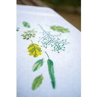 Vervaco Borduurpakket tafelkleed blaadjes en grassen 0170838