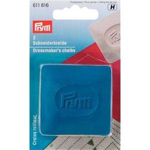 Prym Prym Kleermakerskrijt Plaatjes 5 x 5 cm Geel-Blauw 2 stuks
