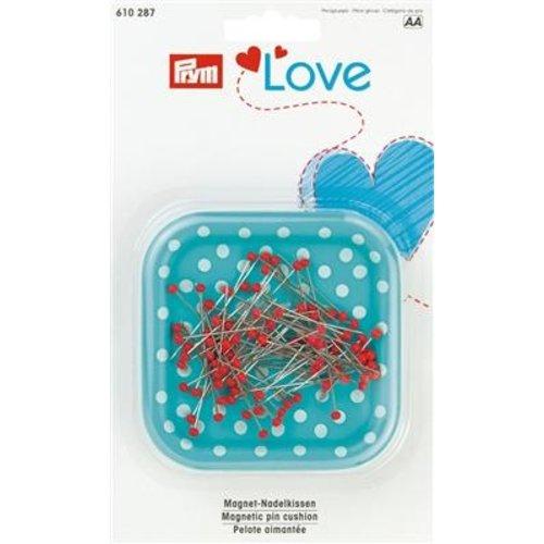 Prym Prym Speldenkussen Love Magnetisch + Glaskopspelden