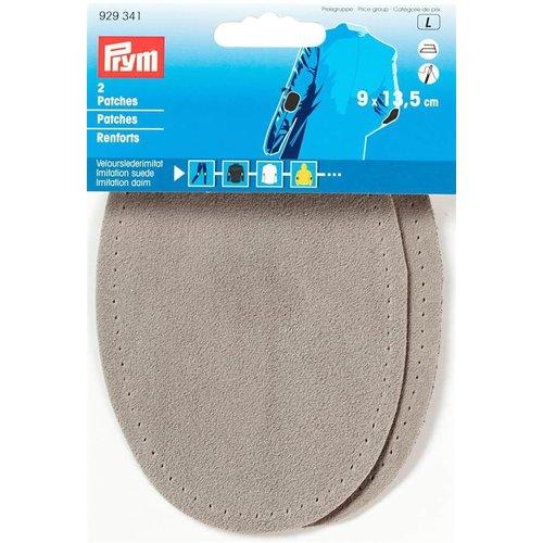 Prym Prym Patches Lederimitatie Opstrijkbaar 9 x 13,5 cm L.Grijs 2 stuks