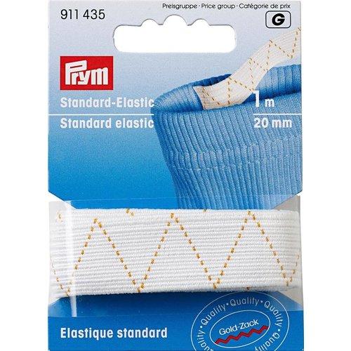 Prym Prym Standaard Elastiek 20 mm Wit 1 meter